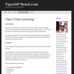 Viper's Video Quicktags