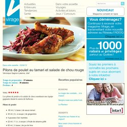 Virage – Le magazine en lignePilons de poulet au tamari et salade de chou rouge - Virage - Le magazine en ligne