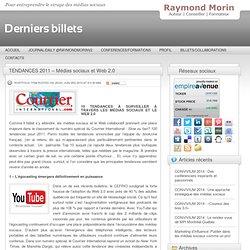 Comment entreprendre le virage 2.0 » TENDANCES 2011 – Médias sociaux et Web 2.0