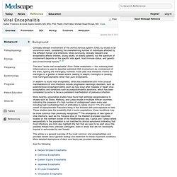 Viral Encephalitis: eMedicine Neurology