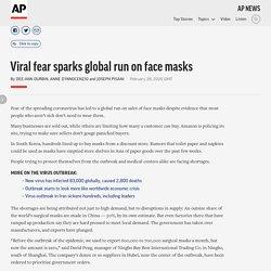 Viral fear sparks global run on face masks