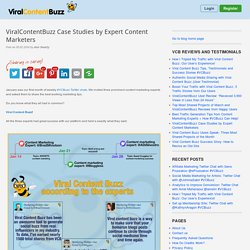 ViralContentBuzz Case Studies by Expert Content Marketers