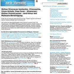 Virenscan: Anti-Virus Scan - Online Virenscanner - Viren-Suche kostenlos