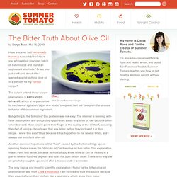Why Extra-Virgin Olive Oil Becomes Bitter In The Blender
