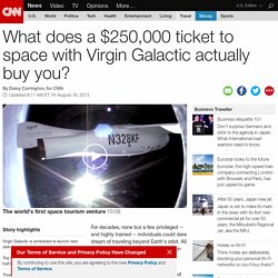 Is a Virgin Galactic seat worth $250,000?