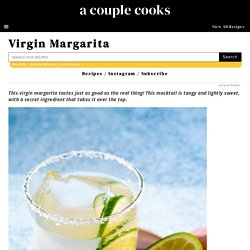 Virgin Margarita – A Couple Cooks