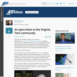 An open letter to the Virginia Tech community - AEI