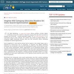 Virginia SEO Company Educates Readers On Voice Search Optimization