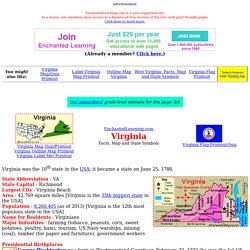 Virginia: Facts, Map and State Symbols