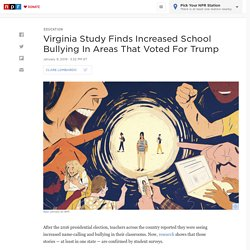 Virginia Study Finds Increased School Bullying In Areas That Voted For Trump