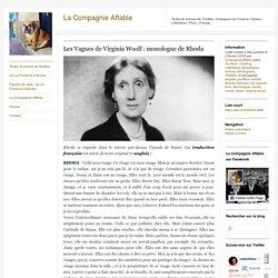 Les Vagues de Virginia Woolf : monologue de Rhoda