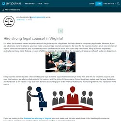 Hire strong legal counsel in Virginia!: pirschassociate