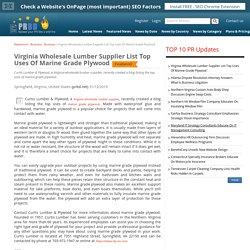 Virginia Wholesale Lumber Supplier List Top Uses Of Marine Grade Plywood