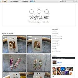 Bijoux de papier - virginie etc... Création de bijoux et accessoires de mode