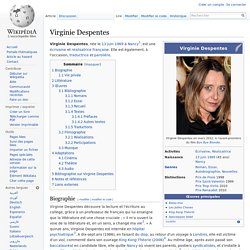 Virginie Despentes  Wikipédia