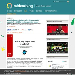 Artists, why do you need a website ? – MIDEM exclusive white paper