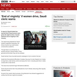 'End of virginity' if women drive, Saudi cleric warns