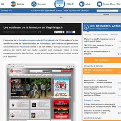 Les coulisses de la fermeture de VirginMega.fr