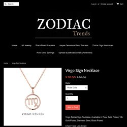 Virgo Sign Necklace – Zodiac Trends