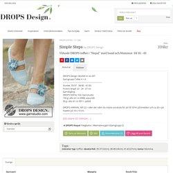 """Simple Steps / DROPS Extra 0-1280 - Virkade DROPS tofflor i """"Nepal"""" med band och blommor. Stl 35 - 43 - Gratis mönster från DROPS Design"""
