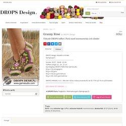 Granny Rose / DROPS 139-17 - Virkade DROPS tofflor i Paris med mormorsruta och ränder - Gratis mönster från DROPS Design