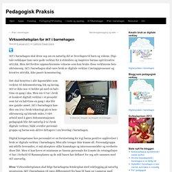 Virksomhetsplan for IKT i barnehagen