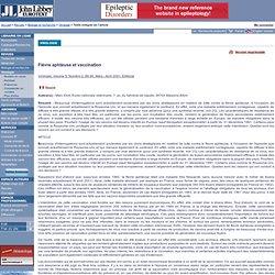 Virologie. Volume 5, Numéro 2, Mars - Avril 2001 Fièvre aphteuse et vaccination