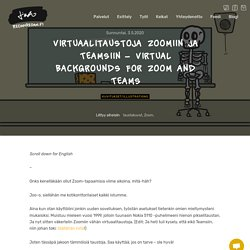 Virtuaalitaustoja Zoomiin ja Teamsiin - Virtual Backgrounds for Zoom and Teams - Linda Saukko-Rauta, Redanredan Oy