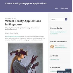 Virtual Reality Applications Singapore