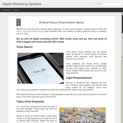 Digital Marketing Updates: All About Hiring a Virtual Assistant Agency