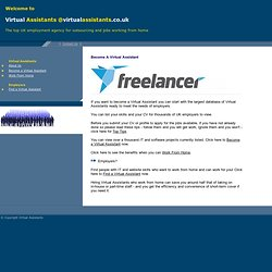 Virtual Assistants - UK Work from Home Employment Agency