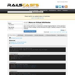 #167 More on Virtual Attributes