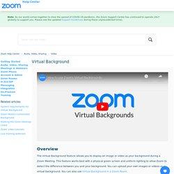 Zoom - Virtual Background