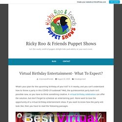Virtual Birthday Entertainment- What To Expect? – Ricky Roo & Friends Puppet Shows