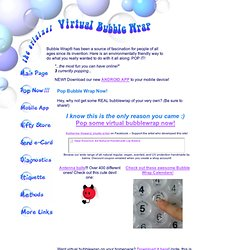Virtual Bubblewrap - Pop Now! Pop bubble wrap online - since 1996