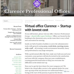Virtual office Clarence – Startup with lowest cost – Clarence Professional Offices