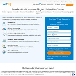 Moodle Web Conferencing Block and Activity - WiZiQ Live Class