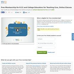 Free Virtual Classroom Premium Membership for Academicians on WizIQ