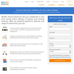 Virtual Classroom Software for Live, Online Classes | WizIQ
