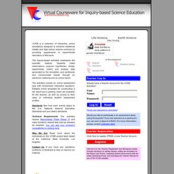 Virtual Courseware for Inquiry-based Science Education