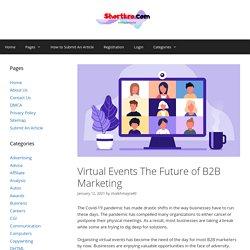 Virtual Events The Future of B2B Marketing