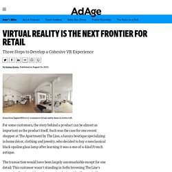 Virtual Reality Is the Next Frontier for Retail