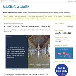 A List of Virtual Art Galleries & Museums #1 - in the UK