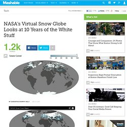 NASA's Virtual Snow Globe Looks at 10 Years of the White Stuff
