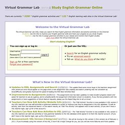 Virtual Grammar Lab: Study English Grammar Online