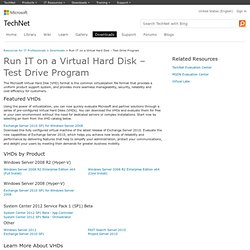 Run IT on a Virtual Hard Disk – Test Drive Program