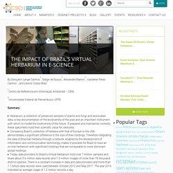 The Impact of Brazil's Virtual Herbarium in e-Science