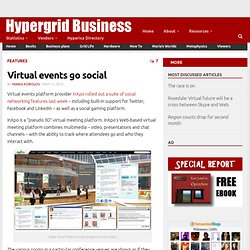 Virtual events go social