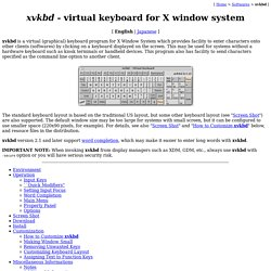 xvkbd - Virtual Keyboard for X Window System
