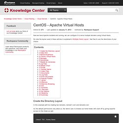 CentOS - Apache Virtual Hosts